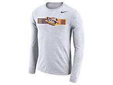 Men's LSU Tigers Dri-Fit Cotton Slub Long Sleeve T-Shirt