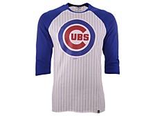 Men's Chicago Cubs Pinstripe Throwback Raglan T-Shirt
