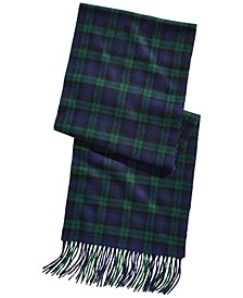 Men's Plaid Cashmere Scarf, Created for Macy's