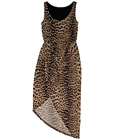 INC Cheetah-Print Asymmetrical Dress, Created for Macy's