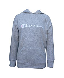 Toddler Girl Embroidered Champion Raglan Hoodie