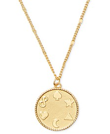 "Gold-Tone Multi-Symbol Pendant Necklace, 18"" + 3"" extender"
