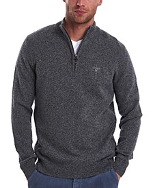 Men's Tisbury Quarter-Zip Rib-Cut Sweater