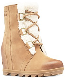 Joan of Arctic Wedge II Shearling-Trim Booties