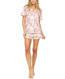 Printed Pajama Shorts Set