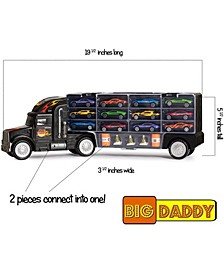 Mag-Genius Car Carrier Tractor Trailer with 12 Cars and Accessories Toy