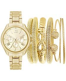 Women's Gold-Tone Bracelet Watch 32mm Gift Set