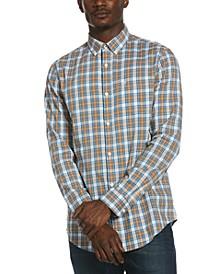 Men's Plaid Woven Cotton Shirt