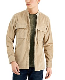 Men's Grayson Band Collar Corduroy Shirt, Created for Macy's