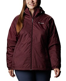 Plus Size Lined Rain Jacket