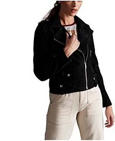Women's Rylee Suede Biker Jacket