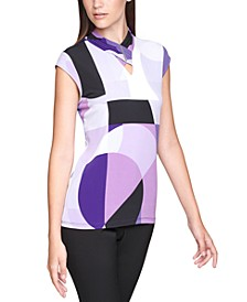 Abstract-Print Shell Top