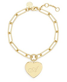 Isabel Initial Heart Gold-Plated Bracelet