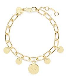 Delancey Initial Gold-Plated Bracelet