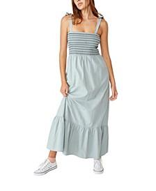 Woven Shae Shirred Maxi Dress