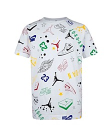 Big Boys Jumpman Logo Printed T-shirt