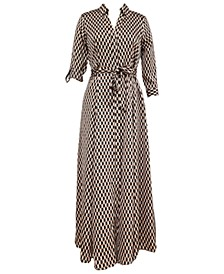 INC Petite Printed Maxi Shirtdress, Created for Macy's