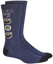 Men's Blue Sushi Roll Socks, Created for Macy's