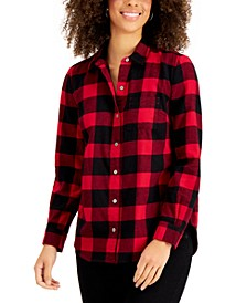 Check-Print Flannel Shirt, Created for Macy's