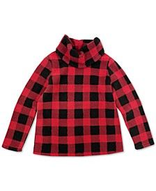 Checked Cowlneck Sweatshirt, Created for Macy's
