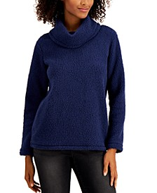 Cowlneck Sherpa Pullover, Created for Macy's