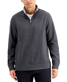 Men's Stretch Quarter-Zip Fleece Sweatshirt, Created for Macy's