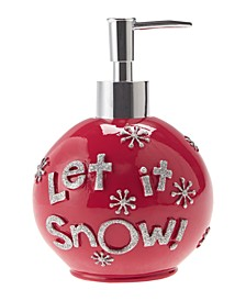 Let It Snow Ornament Holiday Lotion Pump