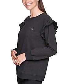 Ruffle-Sleeve Sweatshirt