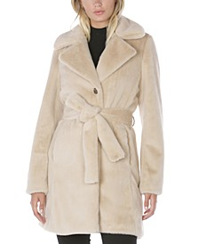 Belted Faux-Fur Coat