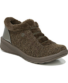 Bzees Golden Fur Trim Washable Slip On Sneakers