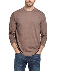 Men's Long Sleeve Brushed Jersey Crew T-shirt