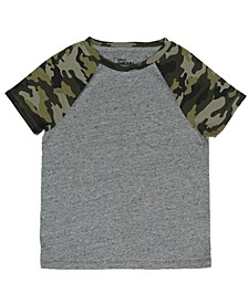 Little Boys Camo Printed Sleeve T-Shirt, Created For Macy's