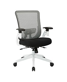 White Vertical Mesh Back Office Chair