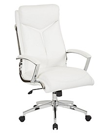 Executive Faux Leather Office High Back Chair