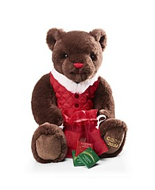 Holiday Plush Bear Chocolate Gift Box, 6 Piece Set