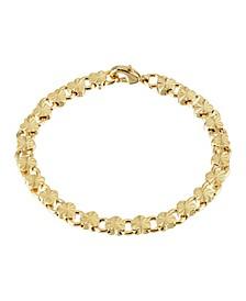 Gold-Tone Petite Heart Link Bracelet