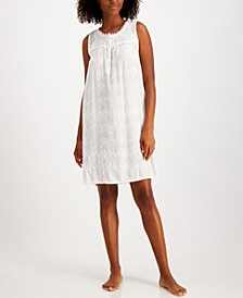 Embroidered Sleeveless Nightgown, Created for Macys