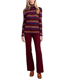 Trina Turnk Sarandon Striped Turtleneck Sweater