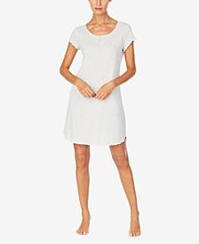 로렌 랄프로렌 슬립셔츠 나이트가운 Lauren Ralph Lauren Striped Sleep Shirt Nightgown,Heather Stripe