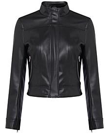 Ilma Faux-Leather Moto Jacket