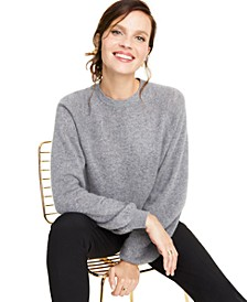 Cashmere Brushed Balloon-Sleeve Sweater, Created for Macy's