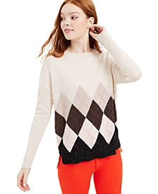 Charter Club Cashmere Argyle Pullover Sweater, Created for Macy's