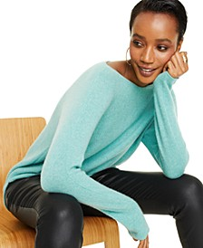 Pure Cashmere Long-Sleeve Shirttail Sweater, Created for Macy's