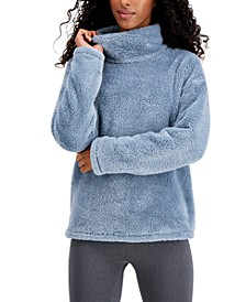 Mock-Neck Fleece Sweater