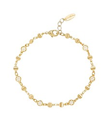 Simplicity Cubic Zirconia Chain Anklet
