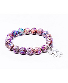 Autism Awareness Gemstone Bracelet