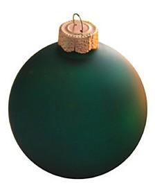 Matte Glass Christmas Ornaments, Box of 8