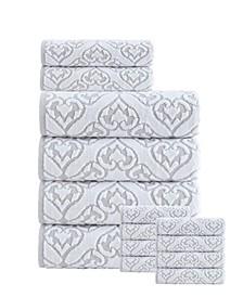 Gonzales Turkish Cotton 14 Pieces Towel Set