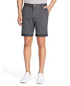 Men's Houndstooth Print Shorts