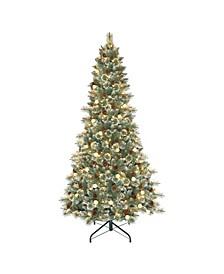 "7.5"" Pre-Lit Carolina Pine Artificial Christmas Tree"